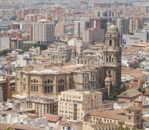 La_Catedral_de_Málaga_seen_from_the_Gibralfaro