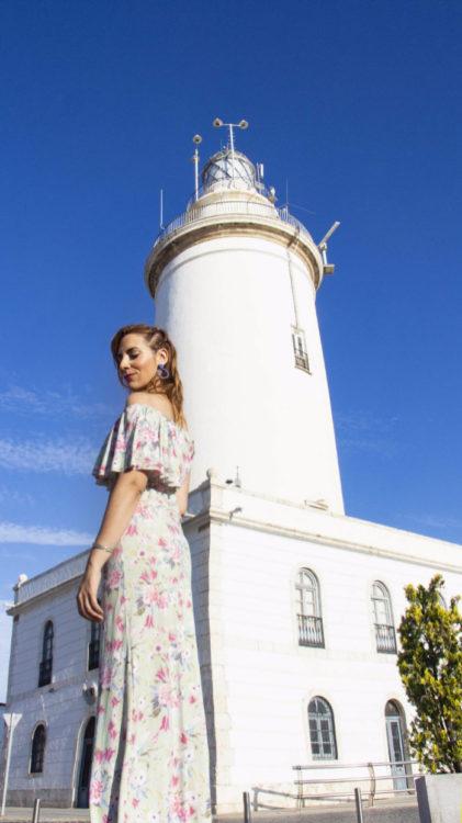 Carmen Moreno con vestido Torbellino de Lunares Love Málaga
